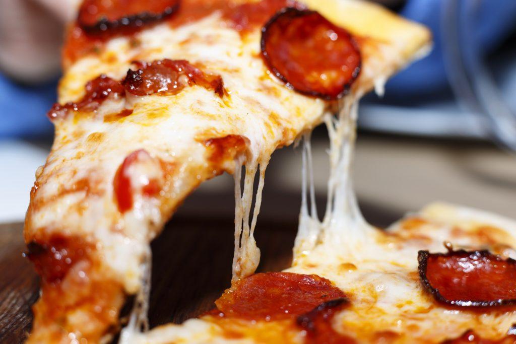 Pepperoni close up